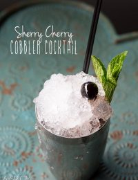 Sherry Cherry Cobbler #Cocktail - AKA the Sherry Cobbler!