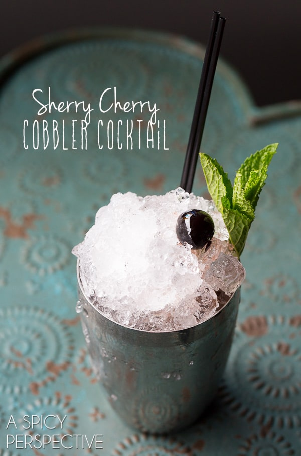 Sherry Cherry Cobbler #Cocktail - AKA the Sherry Cobbler!