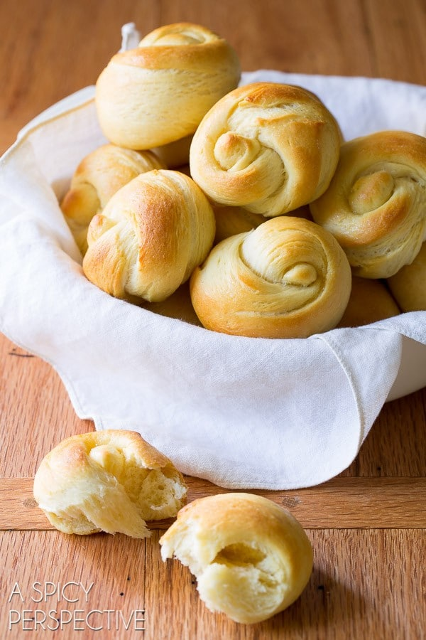 The Best Yeast Rolls Recipe Ever - Light, and airy with honey butter glaze!