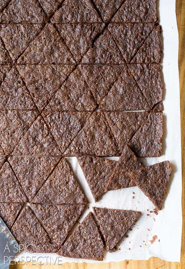 Crispy Chocolate Malt Brownie Brittle Recipe on ASpicyPerspective.com #brownies #brittle