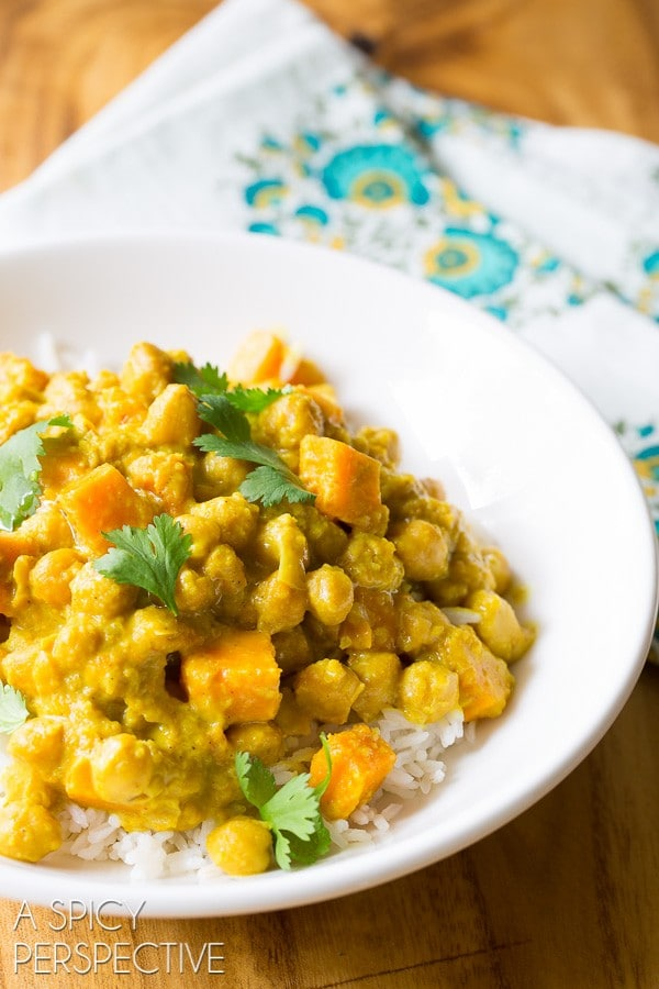 Crockpot Chickpea Curry Recipe