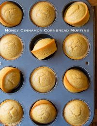 Aromatic Honey Cinnamon Cornbread Muffins on ASpicyPerspective.com #cornbread #bread