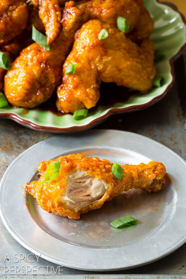 How to Make Sticky-Sweet Crispy Korean Fried Chicken Recipe (The Best!) #friedchicken #korean