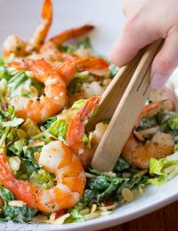 Easy Roasted Shrimp Salad with Herb Buttermilk Dressing #healthy @shrimp
