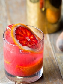 Blood Orange Caipirinha Recipe on ASpicyPerspective.com #cocktails