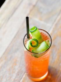 Cucumber Rose Aperol Spritz #Cocktail