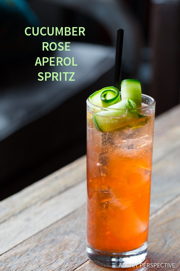 Refreshing Cucumber Rose Aperol Spritz #Cocktail