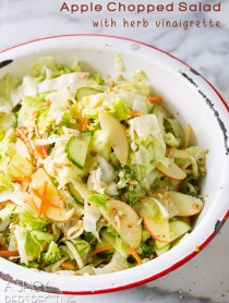 Amazing Apple Chopped Salad with Herb Vinaigrette on ASpicyPerspective.com #salad #healthy