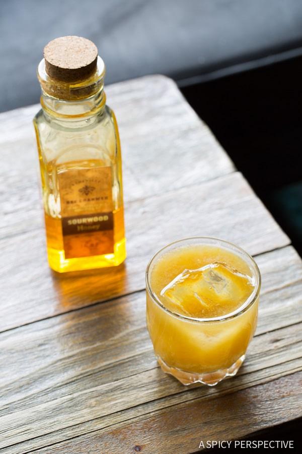 Cocktail - Burnt Honey Bourbon Sour