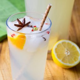 Mulled Lemonade Recipe on ASpicyPerspective.com Great for kids, and for cocktail mixing! #summer #lemonade