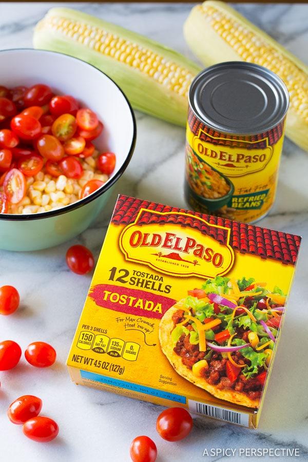 Making Roasted Vegetable Tostadas Recipe on ASpicyPerspective.com # ...