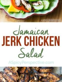 Easy Jamaican Jerk Chicken Salad on ASpicyPerspective.com