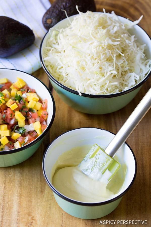 Wasabi Mayo and Fresh Mango Pico de Gallo on ASpicyPerspective.com #nachos