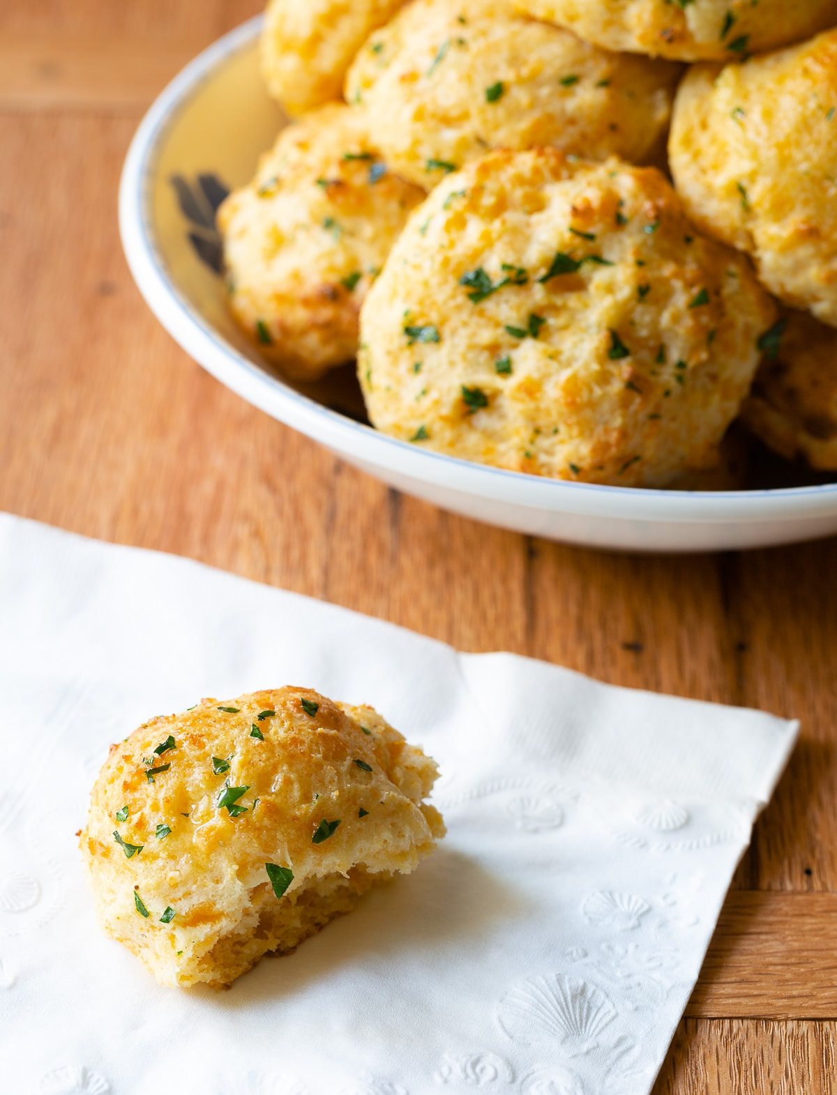 Old Bay Biscuits with Cheddar Cheese and Garlic #aspicyperspective