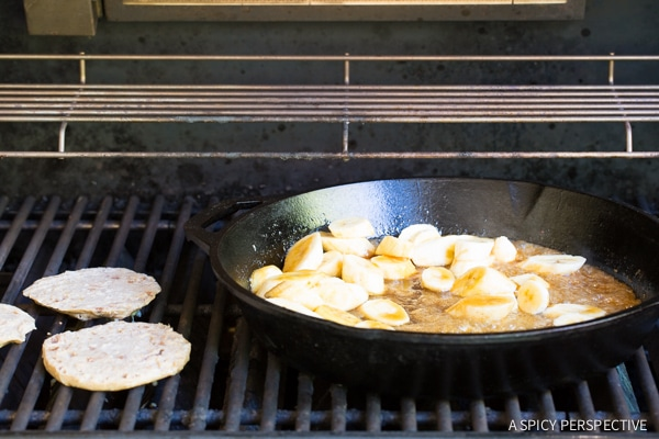 How to Make Grilled French Toast with Bananas Foster #camping