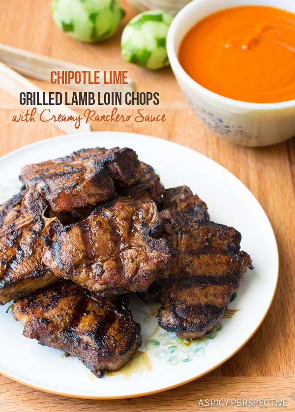 Must-Make Chipotle Lime Grilled Lamb Chops with Ranchero Sauce