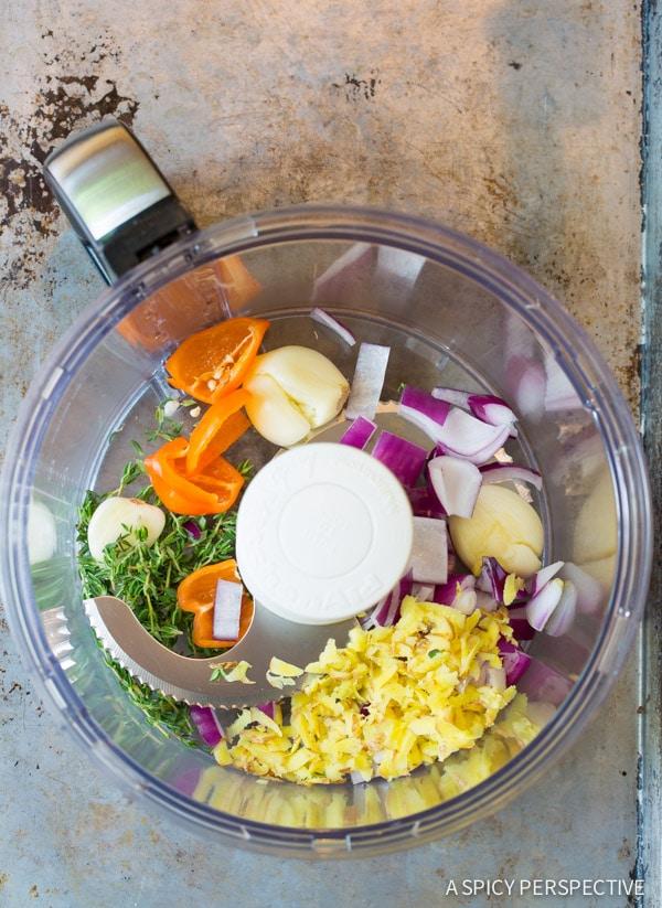 How to Make Jamaican Jerk Chicken Salad on ASpicyPerspective.com