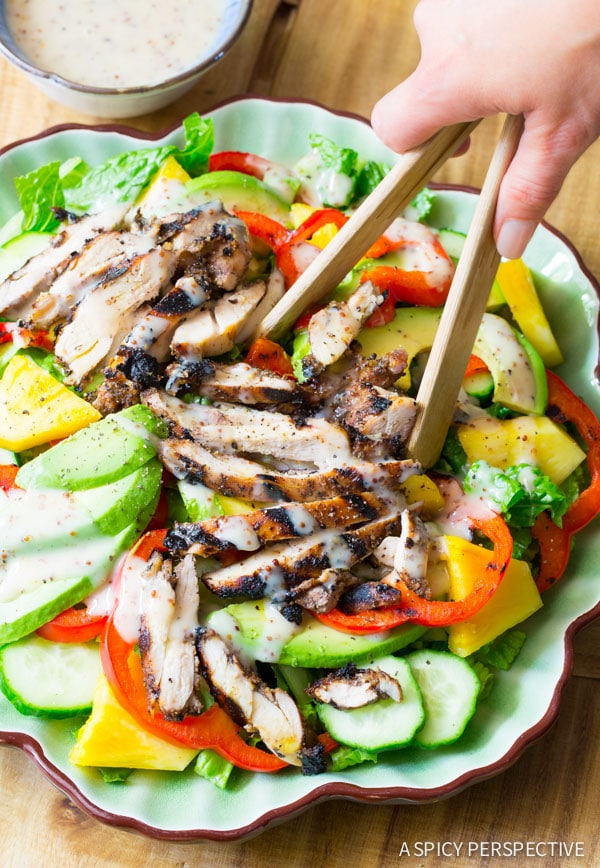 Jamaican Jerk Chicken Salad A Spicy Perspective