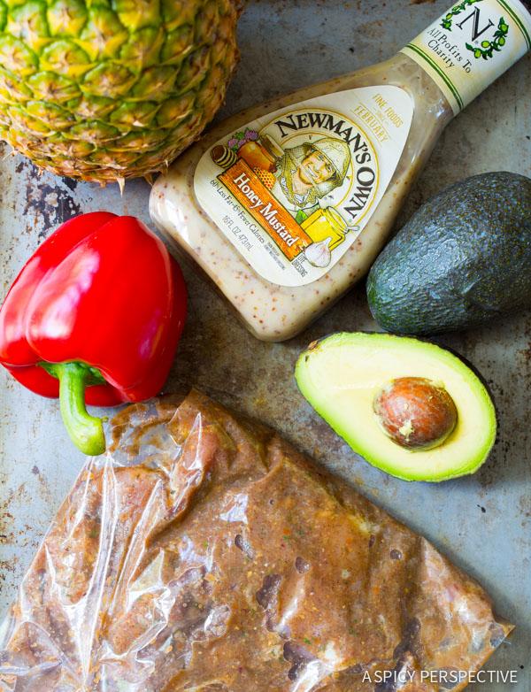Simple Jamaican Jerk Chicken Salad on ASpicyPerspective.com