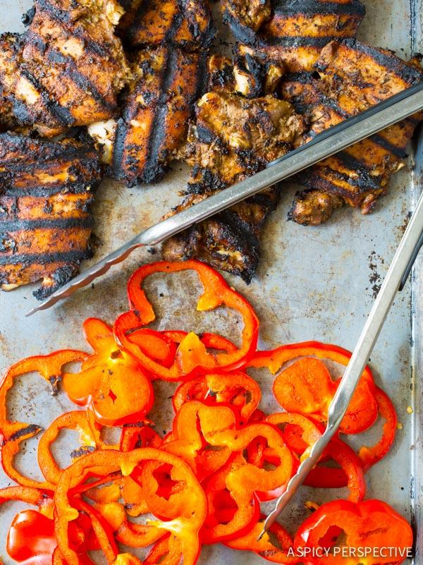 Making Jamaican Jerk Chicken Salad on ASpicyPerspective.com