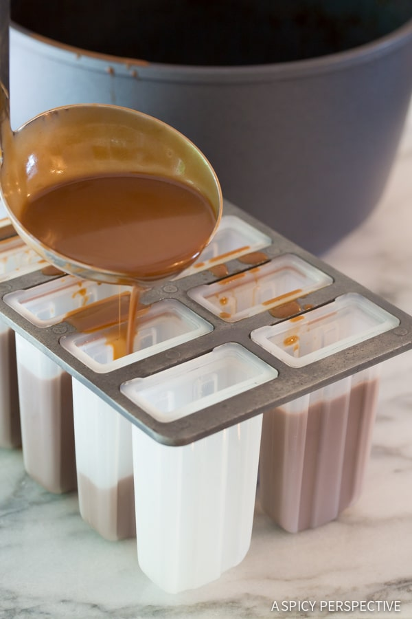 "Best Paleo ""Frozen Hot Chocolate"" Pops on ASpicyPerspective.com #popsicles #paleo"