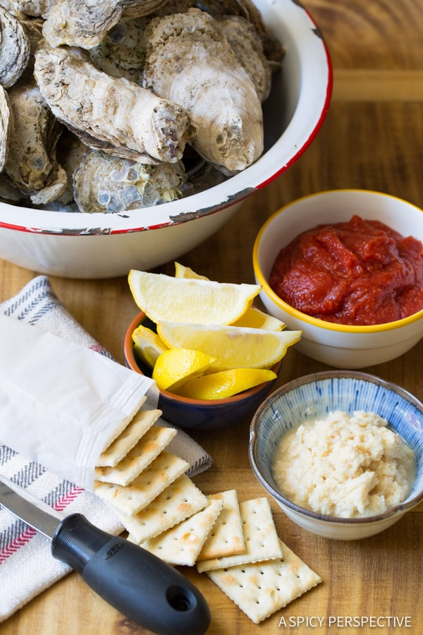 How to Throw an Oyster Shucking Party on ASpicyPerspective.com #oysters #howto
