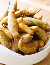 Tempura Shishito Peppers with Korean Mayo on ASpicyPerspective.com