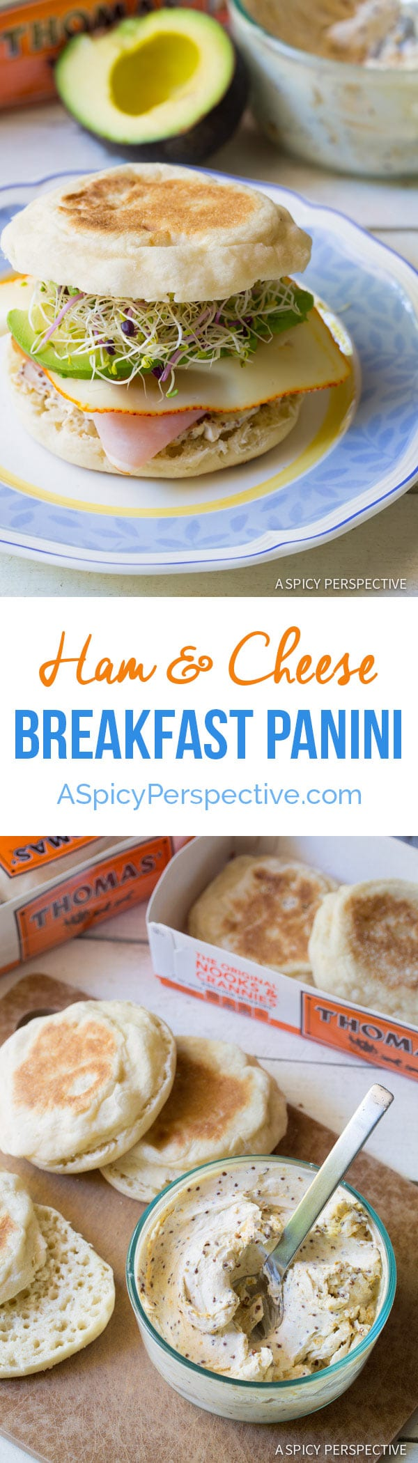 Ham and Cheese Breakfast Panini - A Spicy Perspective