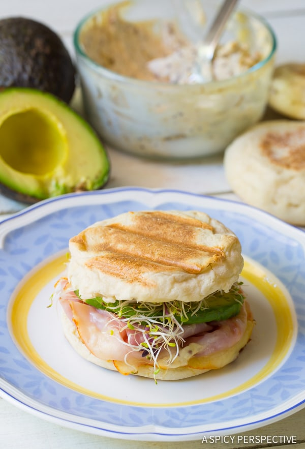 Easy to Make Ham and Cheese Breakfast Panini on ASpicyPerspective.com
