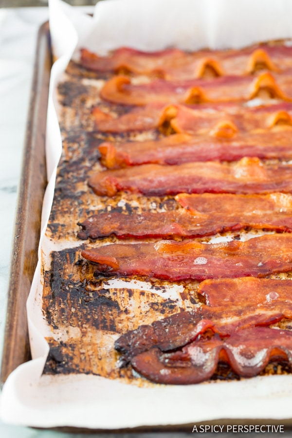 How to Make Easy 2-Ingredient Coke Soaked Bacon Recipe on ASpicyPerspective.com