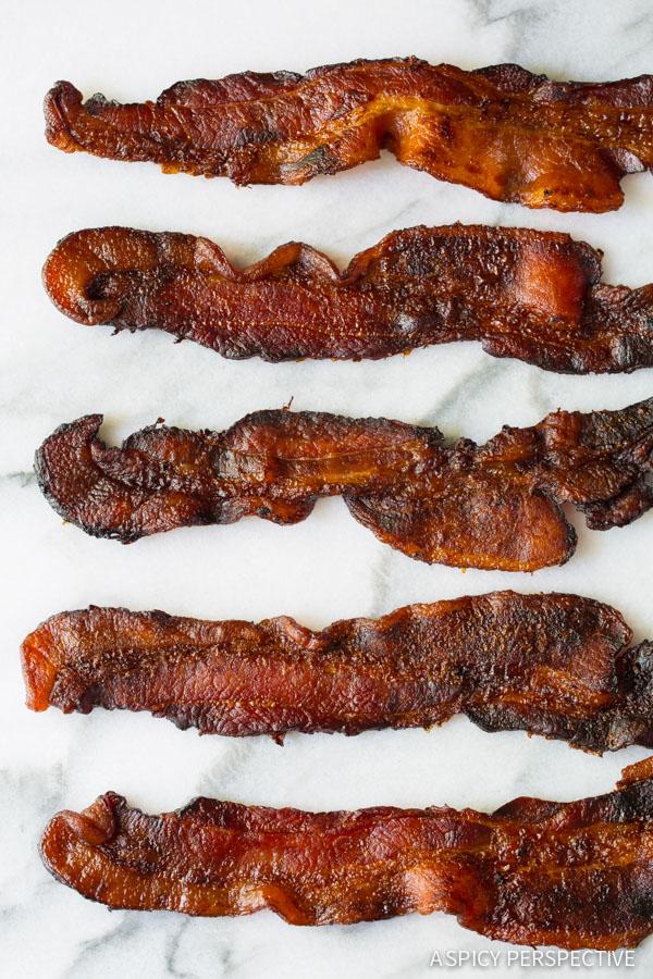 Coke soaked Bacon on ASpicyPerspective.com