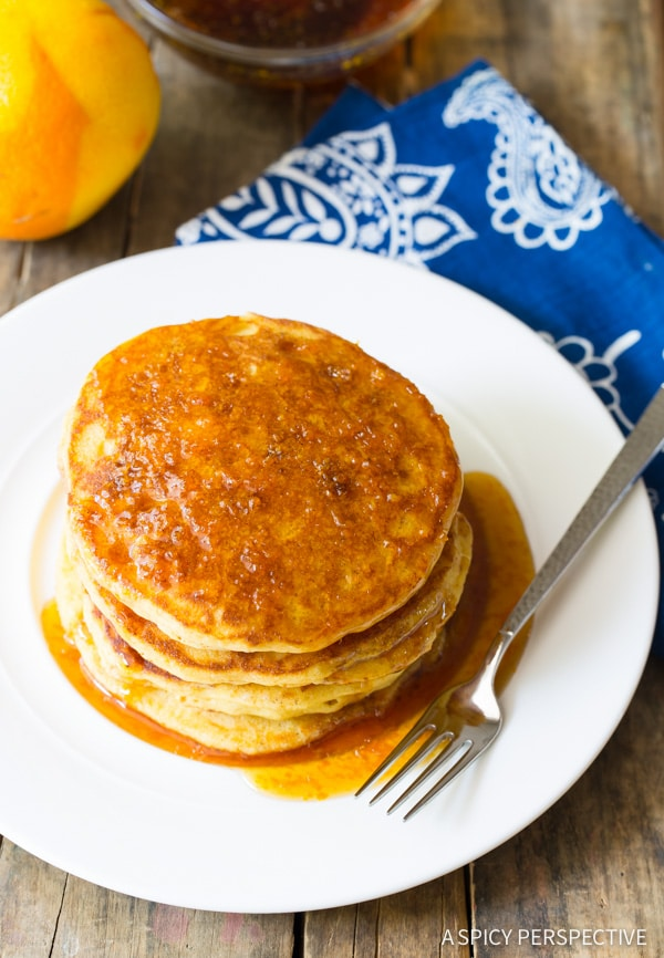 Cornmeal Pancakes with Orange Syrup - Page 2 of 2 - A ...
