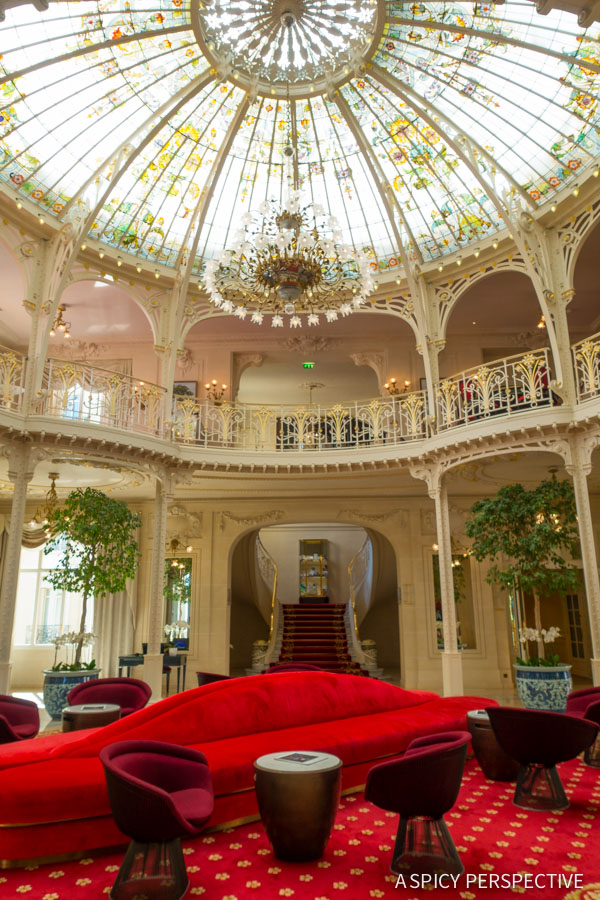 Hotel Hermitage Winter Garden - Monte Carlo Monaco on ASpicyPerspective.com #travel #frenchriviera #cotedazur