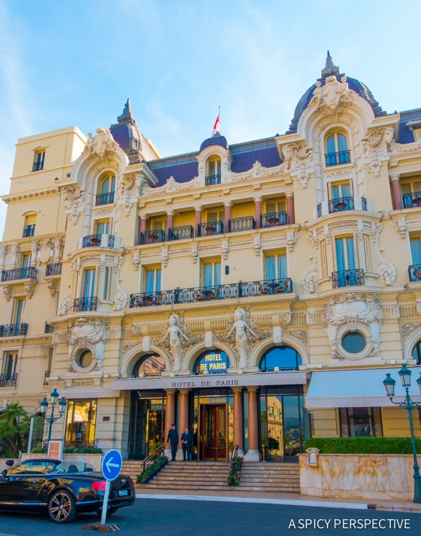 Hôtel de Paris in Monte Carlo Monaco on ASpicyPerspective.com #travel #frenchriviera #cotedazur