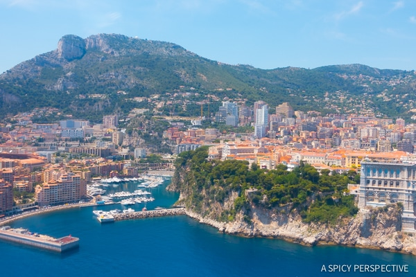 Flying Into Monte Carlo Monaco on ASpicyPerspective.com #travel #frenchriviera #cotedazur