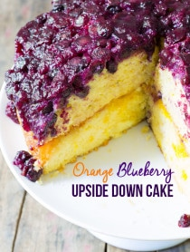 The Best Orange Blueberry Upside Down Cake on ASpicyPerspective.com #cake