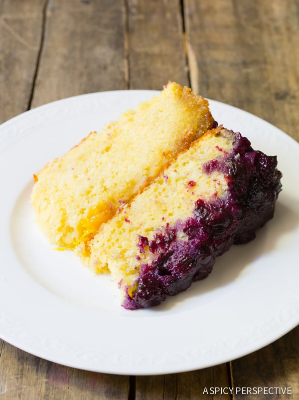 Simple Orange Blueberry Upside Down Cake