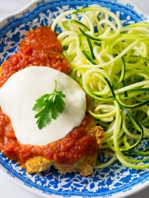 Paleo Baked Chicken Parmesan on ASpicyPerspective.com #paleo #primal
