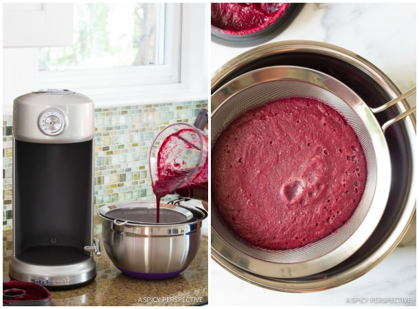 Fresh and Simple 4 Ingredient Basil Beet Juice Recipe (Blender Juice) on ASpicyPerspective.com #juice