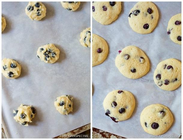 Soft Lemon Blueberry Whoopie Pie Recipe on ASpicyPerspective.com #whoopiepie #blueberry