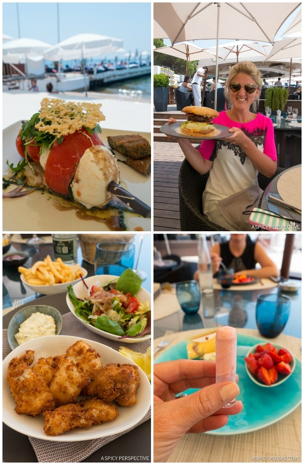 ZPlage Lunch in Cannes, France on ASpicyPerspective.com #travel #france