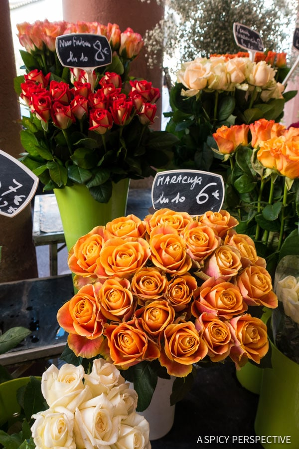 Visiting Forville Market in Cannes, France on ASpicyPerspective.com #travel #france