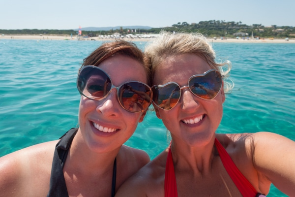 Sommer Collier and Amanda Bottoms Floating in Saint Tropez, France on ASpicyPerspective.com #travel #france