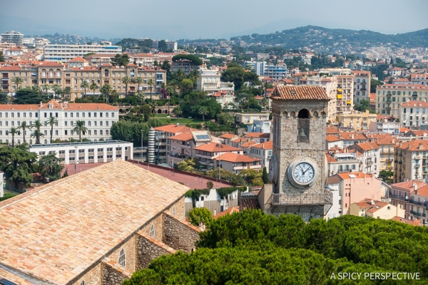 Overlooking Cannes, France on ASpicyPerspective.com #travel #france