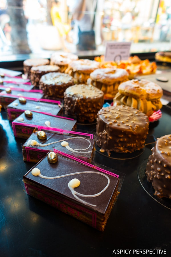Pastries in Cannes, France on ASpicyPerspective.com #travel #france