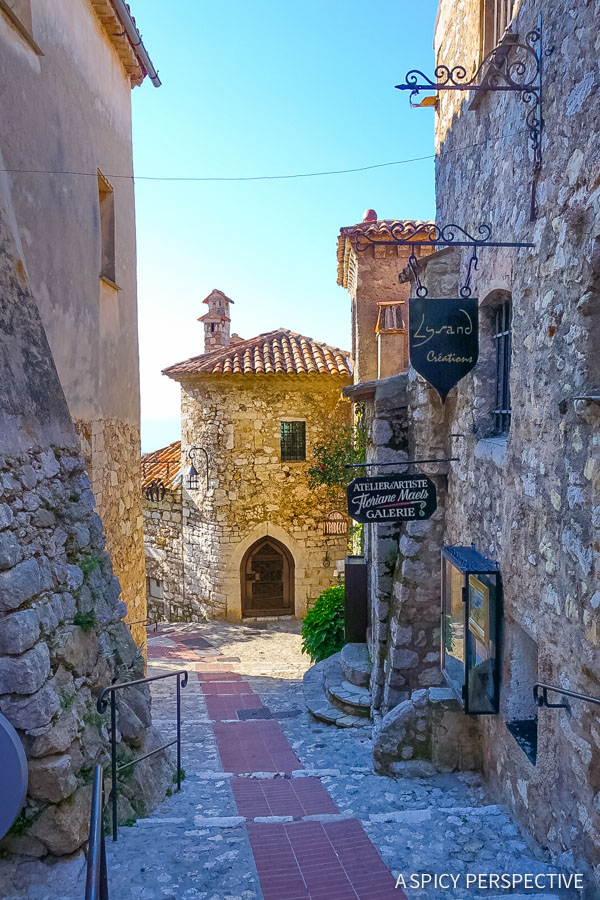 Streets of Eze, France - Travel Tips and Photography on ASpicyPerspective.com