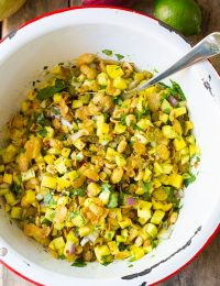 Indian Green Mango Chaat on ASpicyPerspective.com