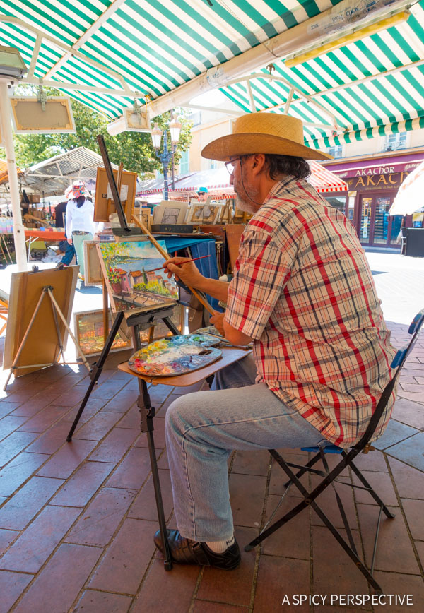 Street Artists in Nice, France - Travel Tips and Photography on ASpicyPerspective.com