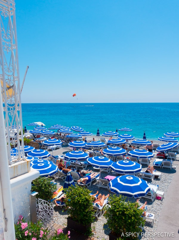 Private Beaches in Nice, France - Travel Tips and Photography on ASpicyPerspective.com