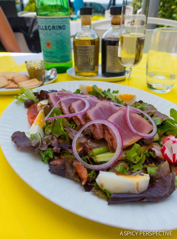 Eating Salade Nicoise in Nice, France - Travel Tips and Photography on ASpicyPerspective.com